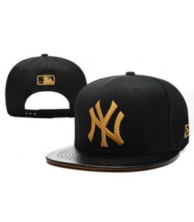 Sapca New Era Snapback New York Yankees Leather Gold