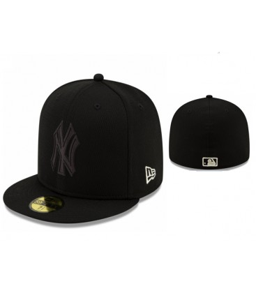 Sapca New Era New York Yankkes Black Mono Fullcap